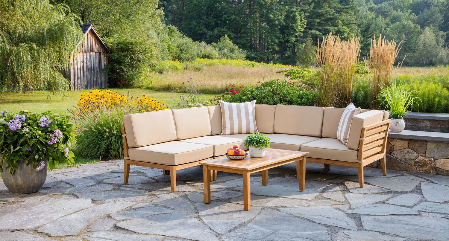 Bali Outdoor Teak Sectional