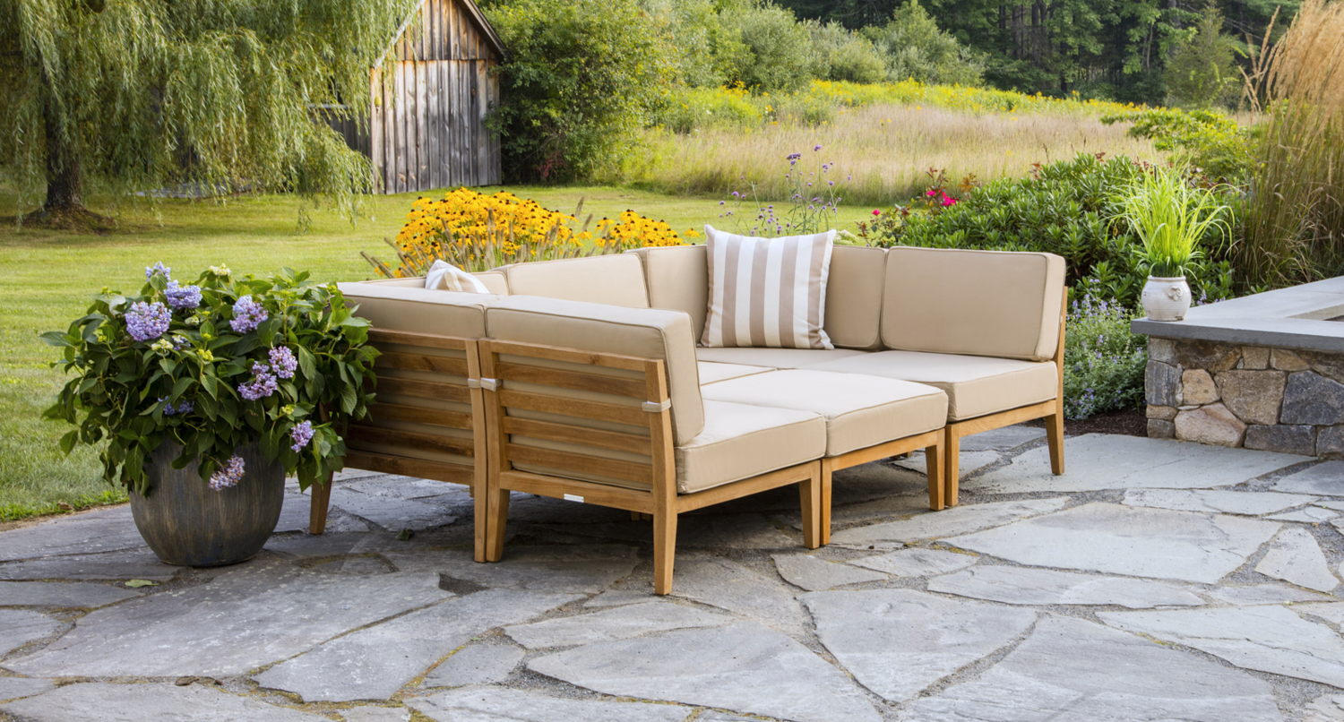 These versatile and weather resistant daybeds and can be pulled apart to create seating for guests or kept together for a large daybed