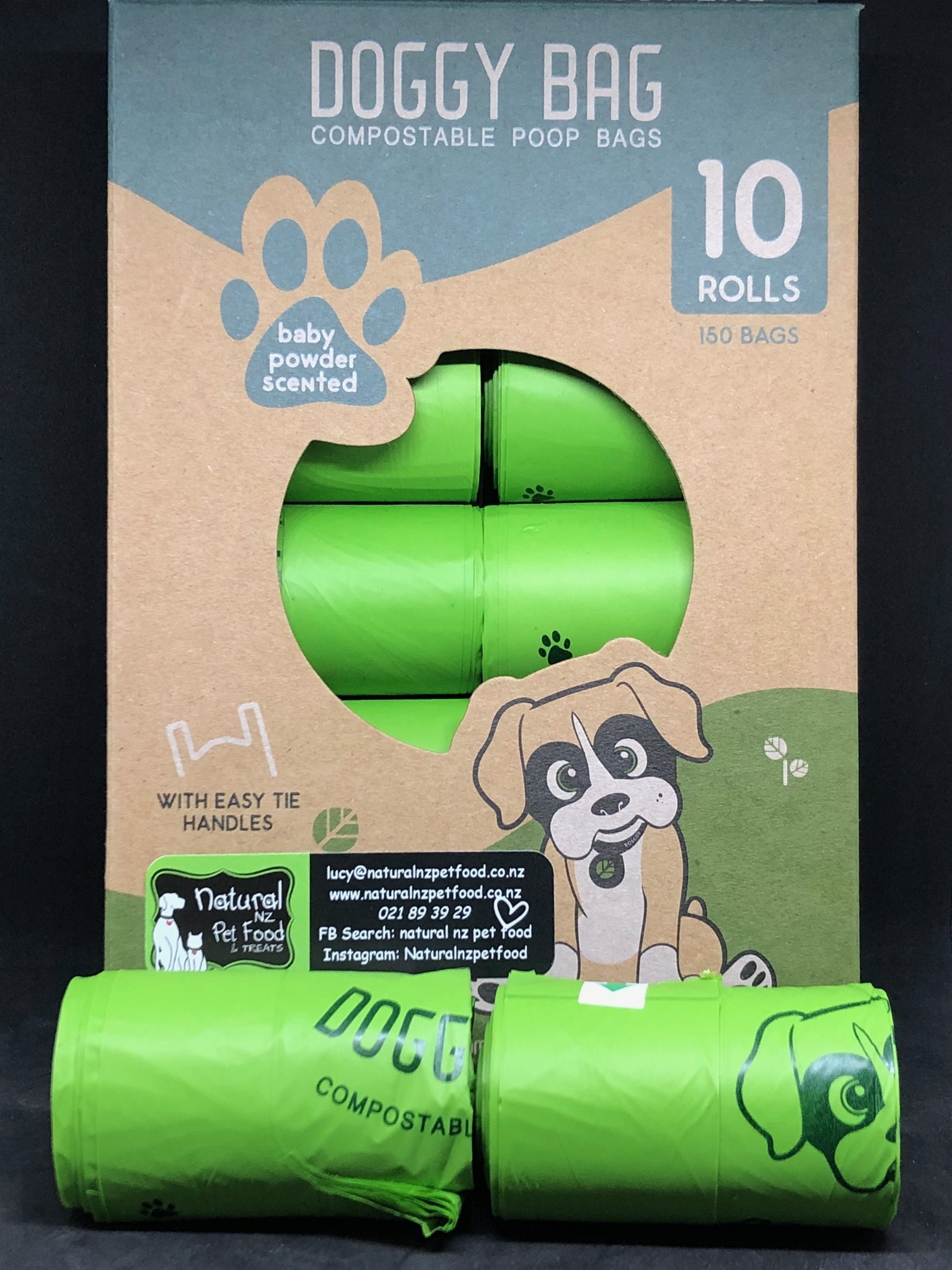 Compostable Doggie Poop Bags 10 Pkt 150g bags compostable-doggie-poop-bags