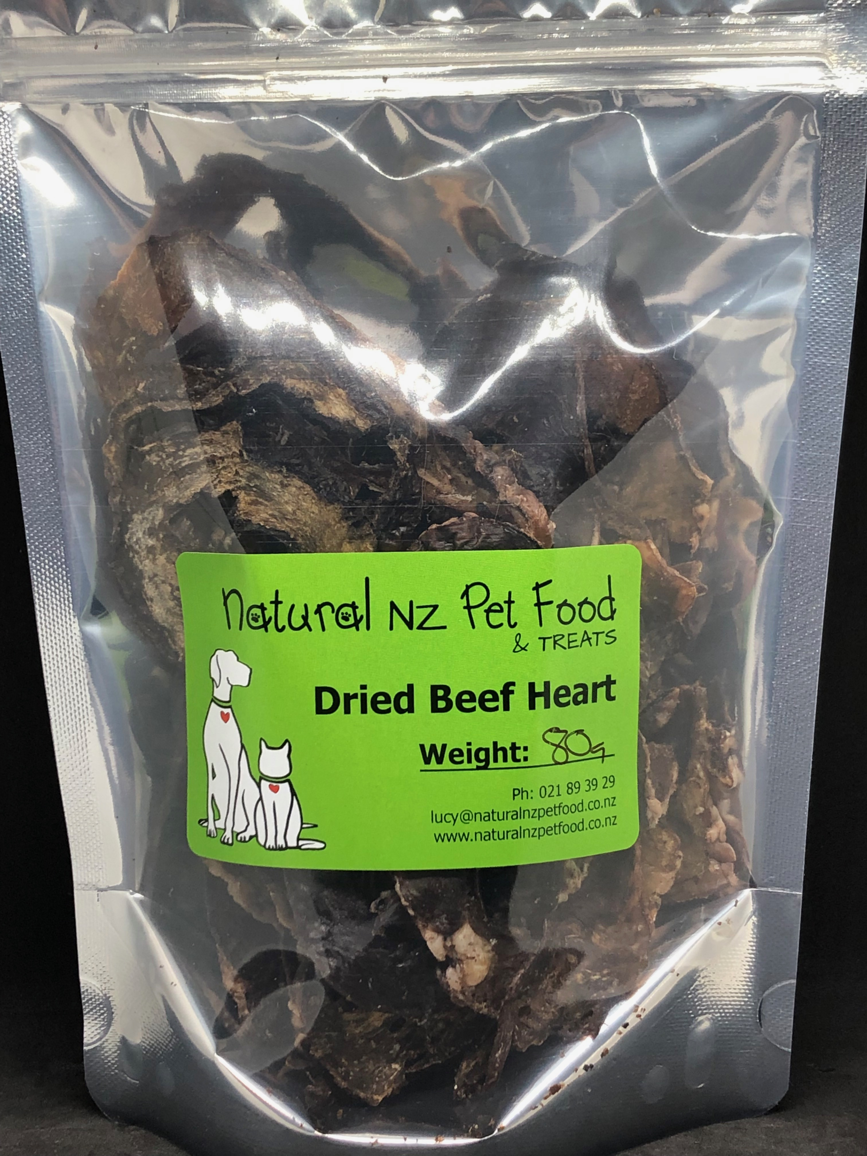 Dried Beef Heart 80g Dried Heart 80g