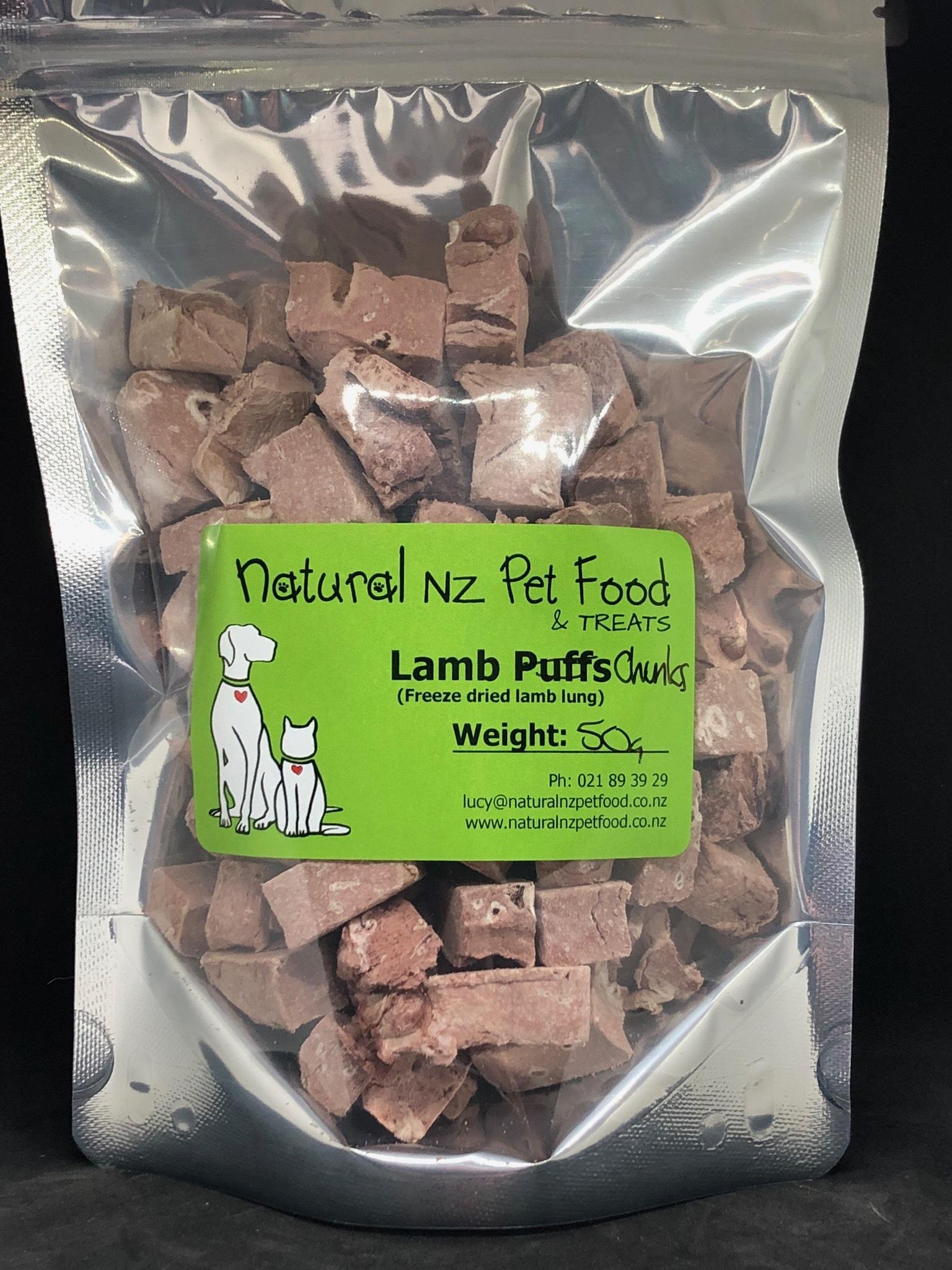 Freeze Dried Lamb Chunks 50g 00028