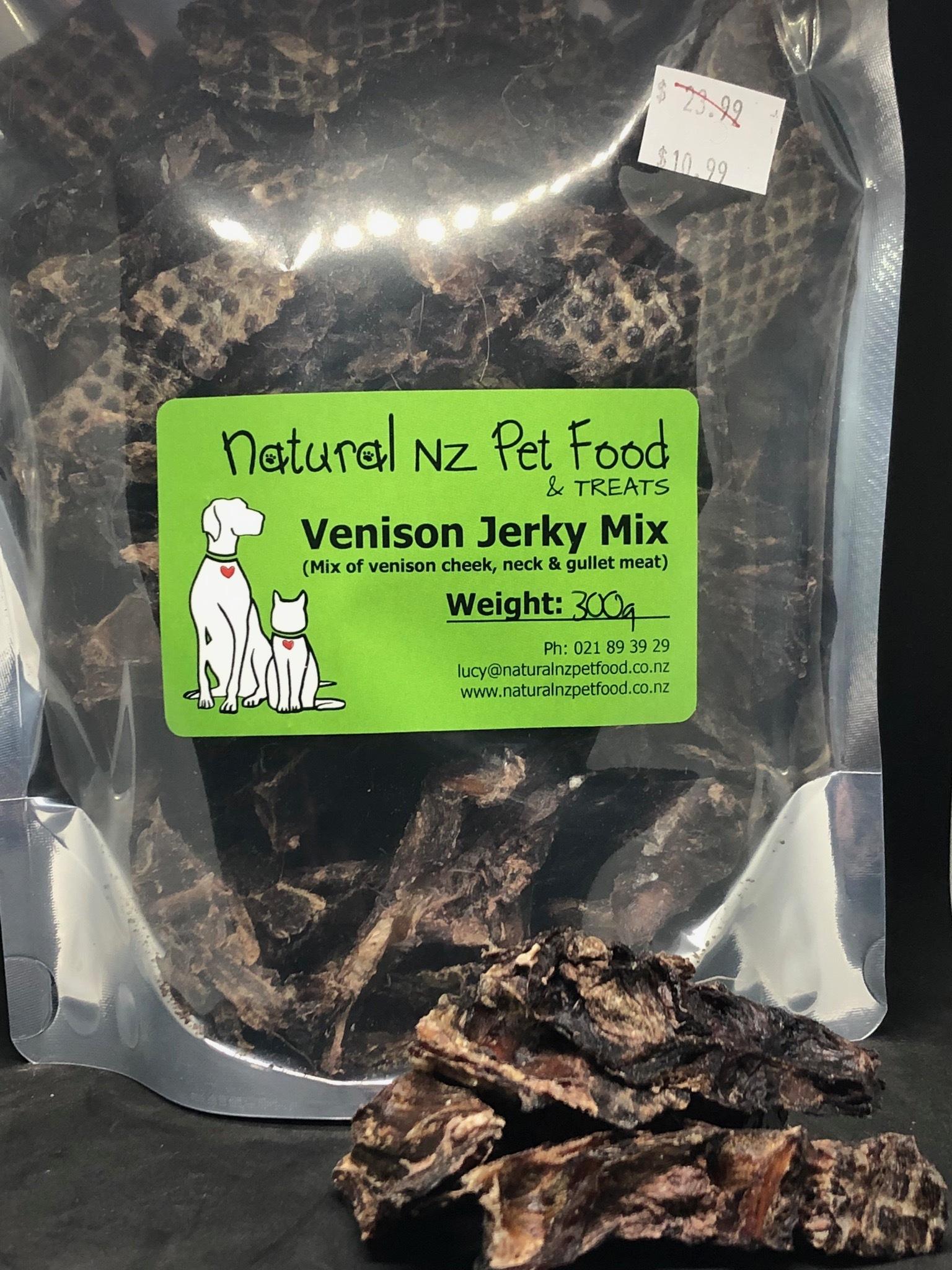 Venison Jerky Mix 300g (Air-Dried) Venison Treats
