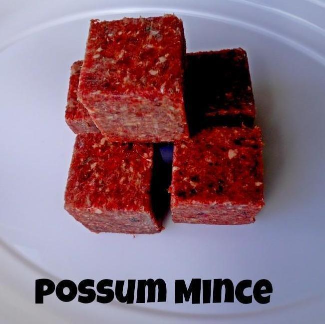 Possum Mince 3 x 1kg Possum & Goat Mince 2 x 1kg & 500g Possum Tails Possum & Goat Mix