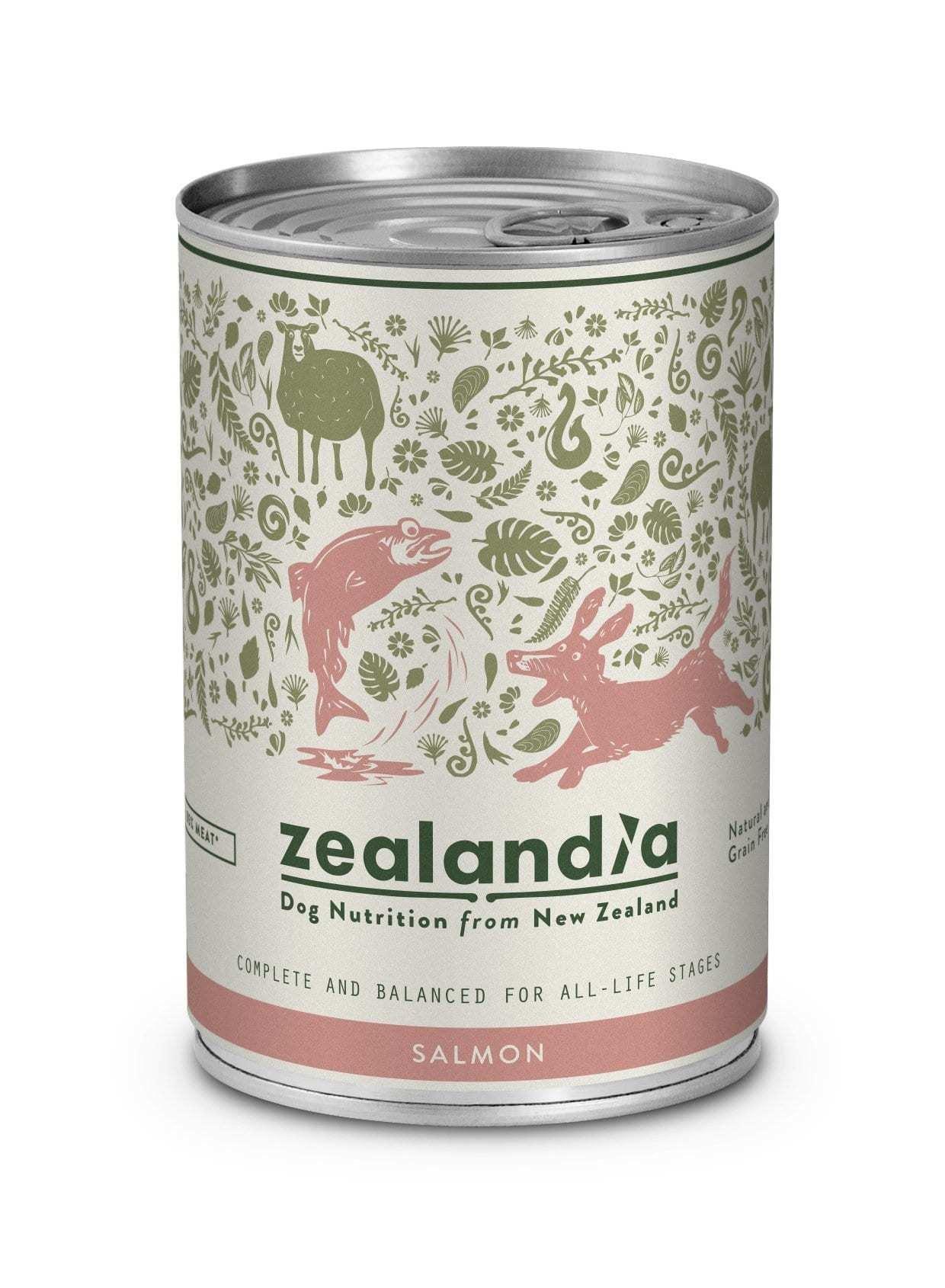 Zealandia Dog NZ Salmon 370g Tinned Dog Food zealandia-dog-salmon-370g-tin