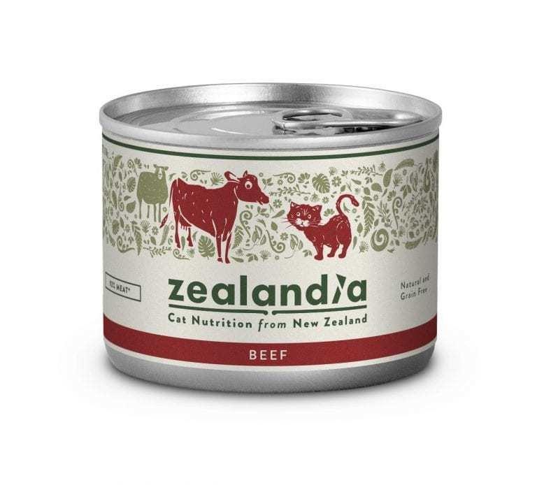 Free Range NZ Beef 170g Tinned Cat Food Singles or 12 Pkt are on SALE zealandia-cat-free-range-nz-beef-170g-tin