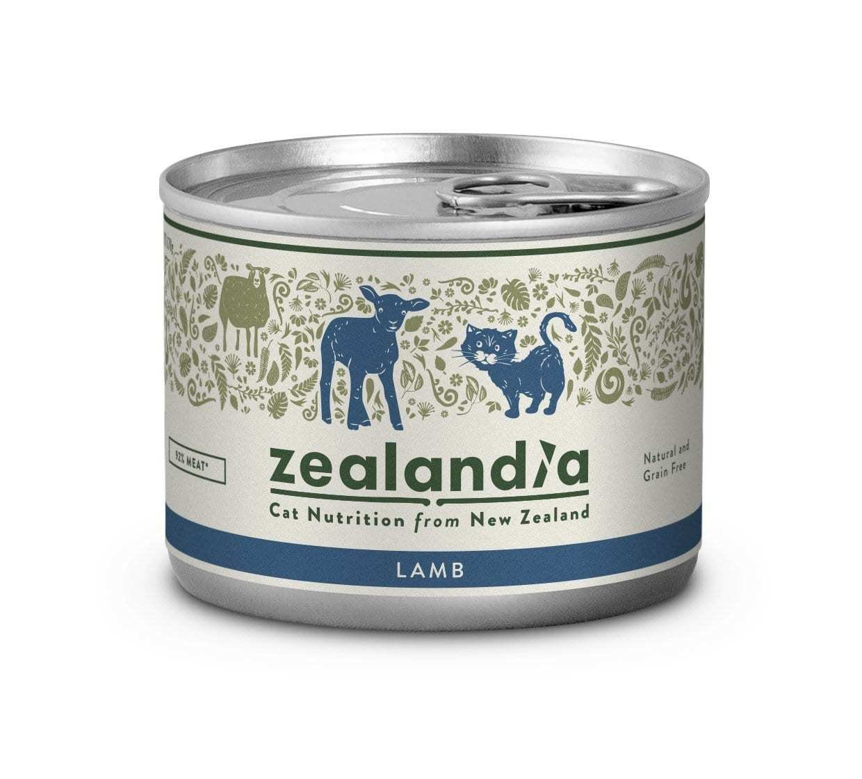 Free Range NZ Lamb 170g Tinned Cat Food Singles or 12 Pkt are on SALE zealandia-cat-free-range-nz-lamb-170g-tin