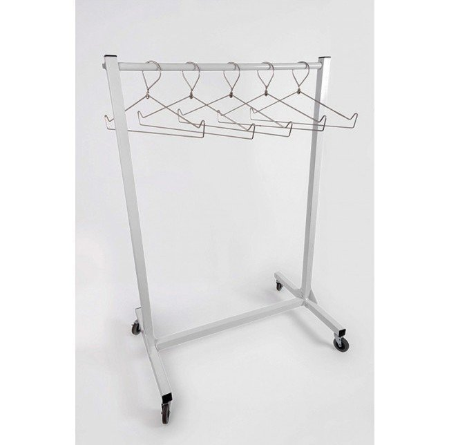 Mobile Radiation Apron Wall Rack, #AR10-VALET-48