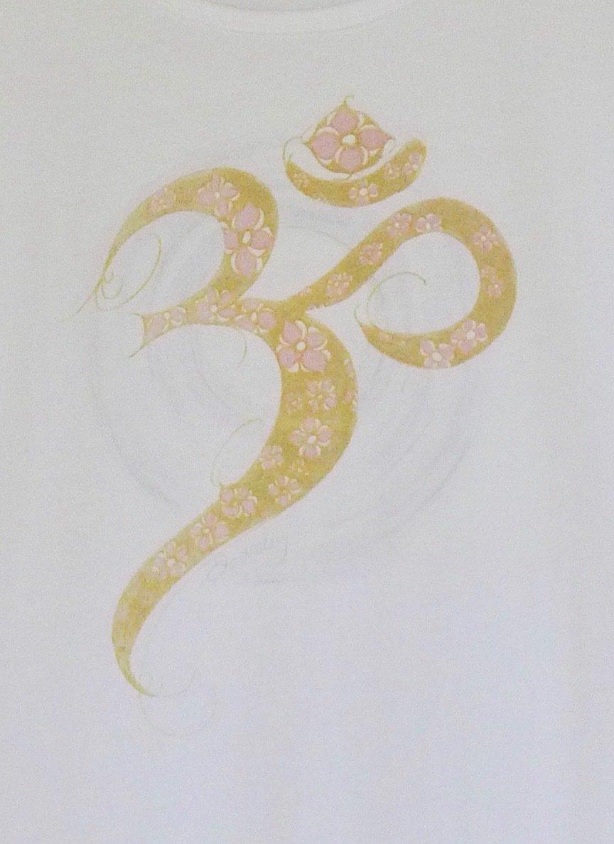Golden Aum Yoga Singlet