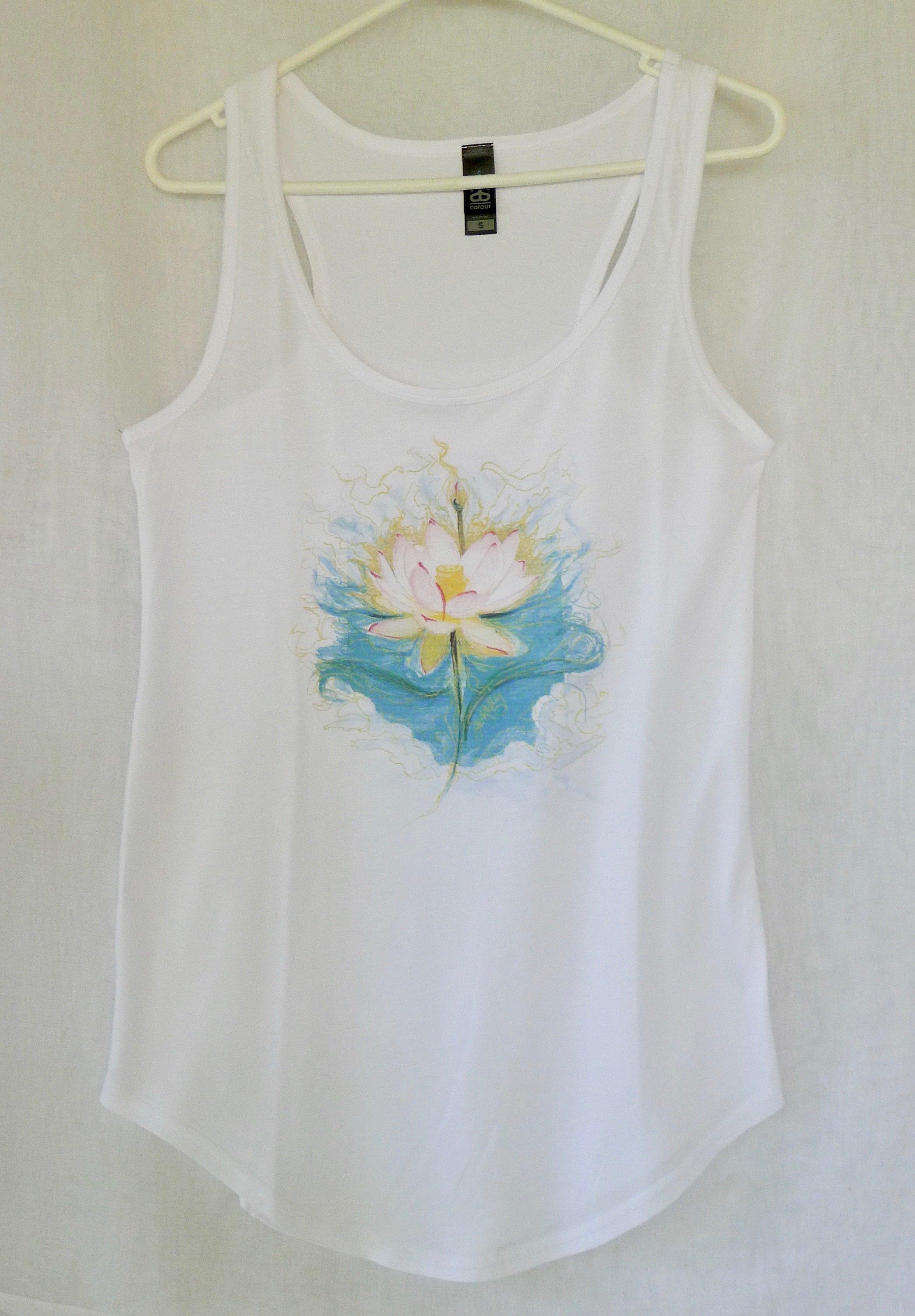 Blue Lotus Yoga Singlet