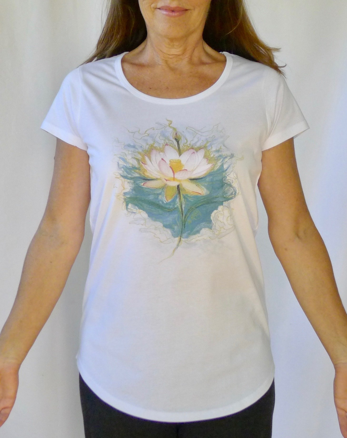 Blue Lotus Yoga Tee 00007