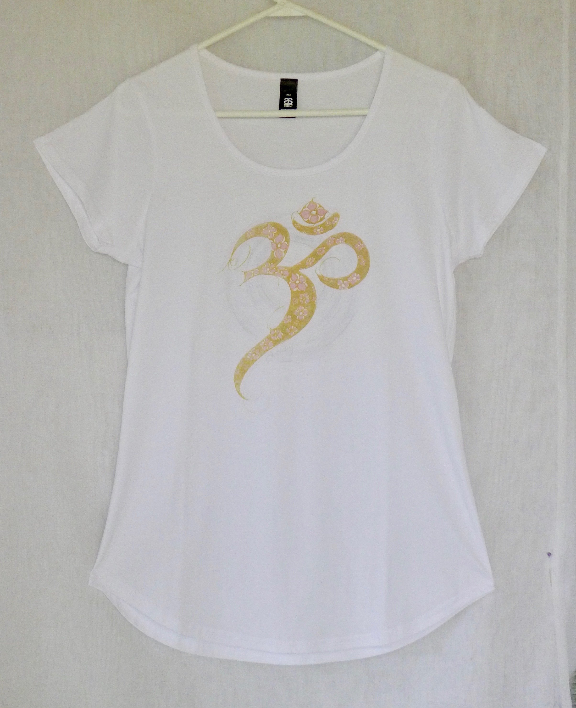 Golden Aum Yoga Tee Shirt