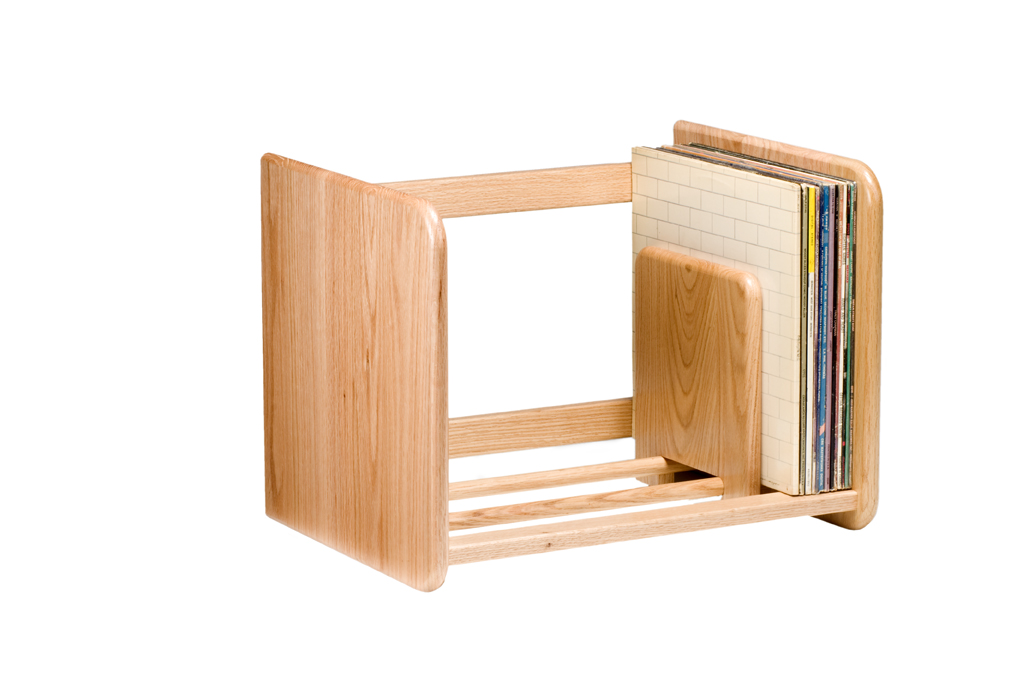Record Rack - Light Oak