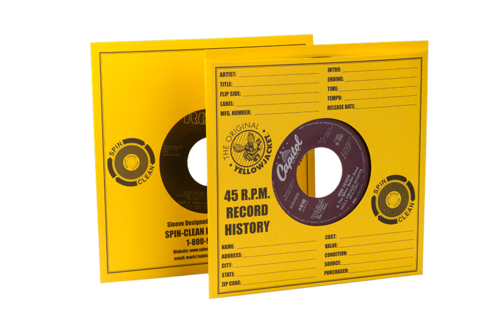 Spin-Clean® Yellow Jacket Record Sleeves (PKG 100) YJ-100
