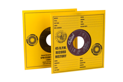 Spin-Clean® Yellow Jacket Record Sleeves (PKG 100)