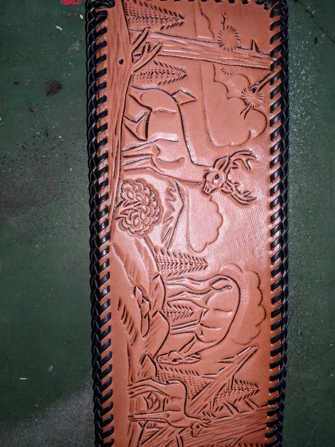 Amish handmade in Maine Leather Bill Fold