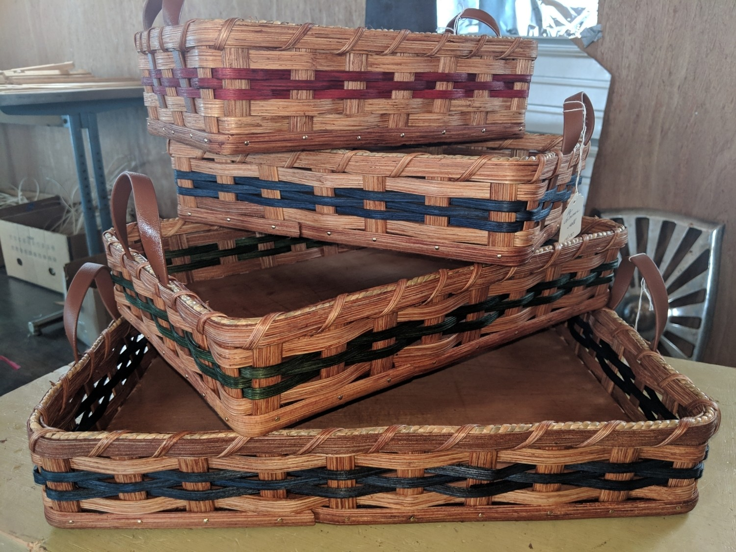 Amish Handmade Large Dinner Roll Basket
