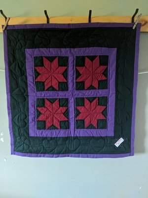 Amish Hand Crafted Single 8 Pointed Star Quilt