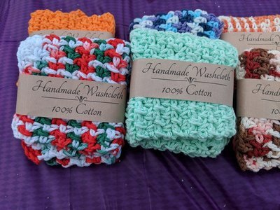 Hand Crochet Wash Cloth