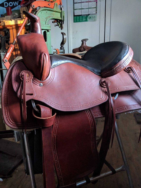 Horse Saddle (hand sewn custom per order)