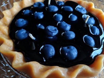 Pie shaped Fruit Candle (Blueberry)