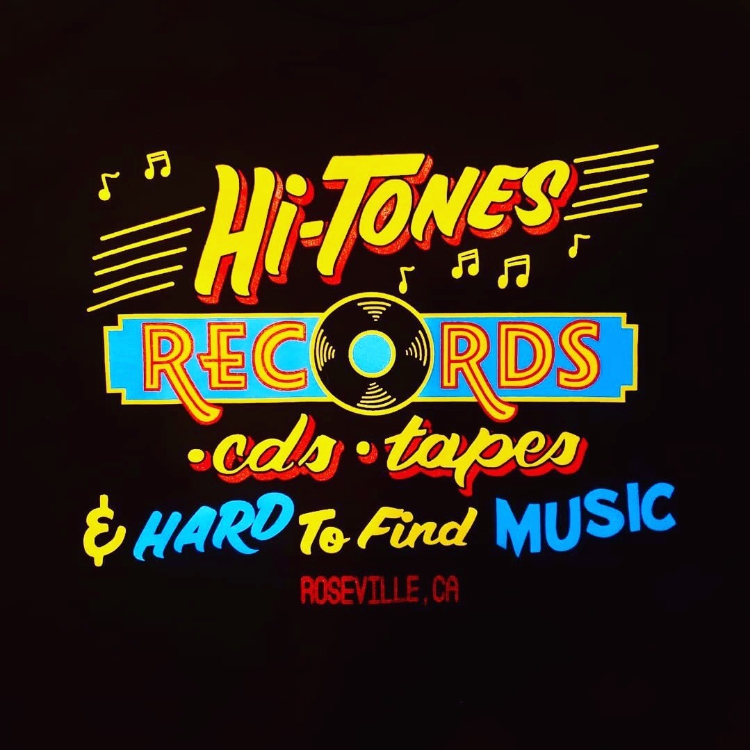 (Official) Hi-Tones Record Store T-Shirt 100% Cotton - Adult (XL) / X-Large