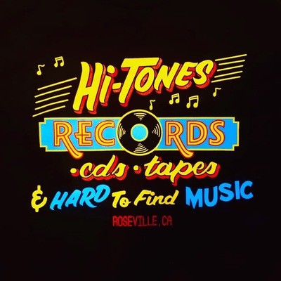 (Official) Hi-Tones Record Store T-Shirt 100% Cotton - Adult Unisex