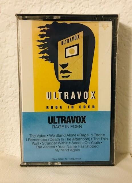 Ultravox ~ Rage In Eden ~ Cassette Tape (New) Rare