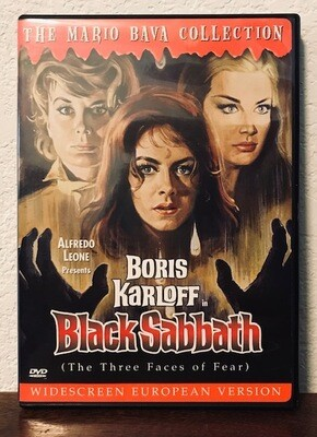 Boris Karloff in Black Sabbath (The Three Faces Of Fear) DVD Rare Out Of Print (Used) Widescreen European Version
