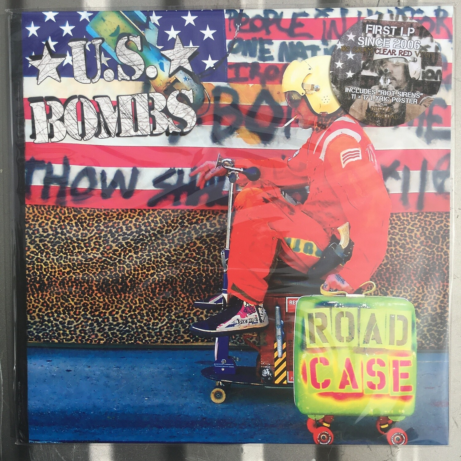 U.S. Bombs ~ Road Case ~ (NEW) Vinyl LP ~ Clear Red Colored Vinyl