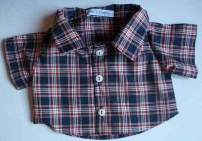 Shirt - dark navy check