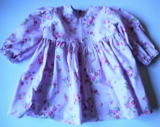 Dress, pink floral.