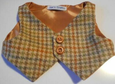 Waistcoat - Tweed wool with plain lining
