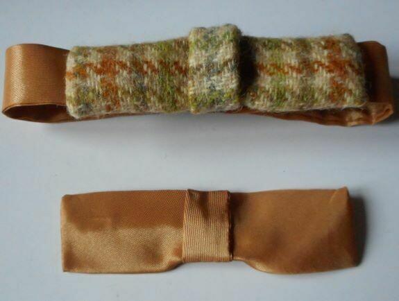 Bow tie set -tweed