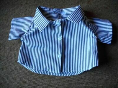 Shirt - brown and white stripe.