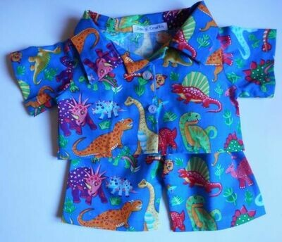 Pyjamas with collar - dinosaur print