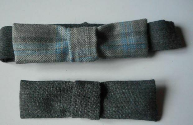 Bow tie set - grey check