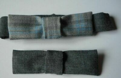 Bow tie set - grey check