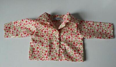 Shirt - red floral print