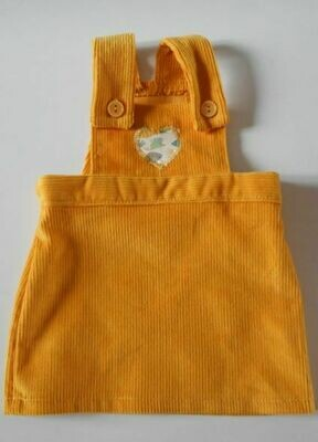 Pinafore - gold corduroy