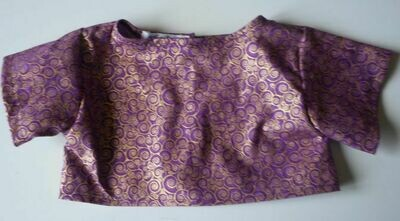Top - purple and gold print