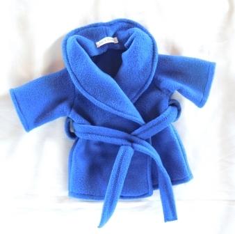 Dressing gown - royal blue fleece