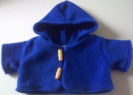 Coat - hooded, royal blue fleece