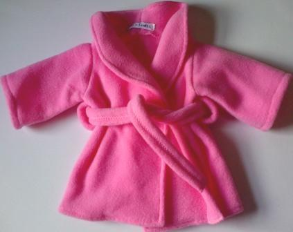 Dressing gown - pink fleece