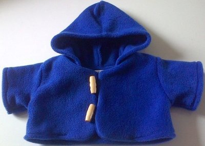 Coat - hooded, royal blue fleece
