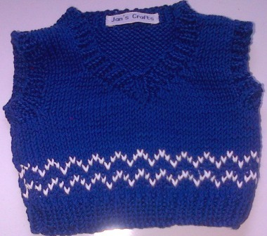 Tank top - royal blue and white