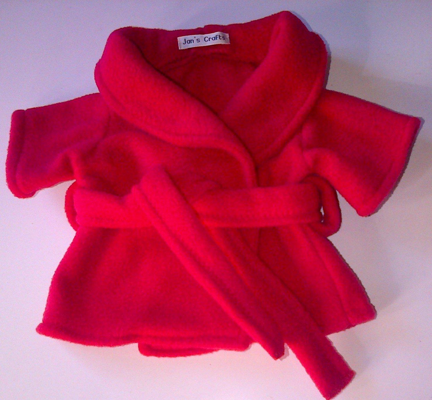 Dressing gown - red fleece