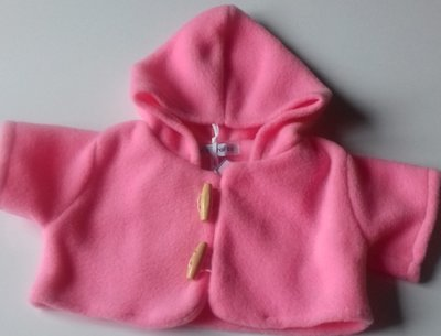 Coat - hooded, pink fleece