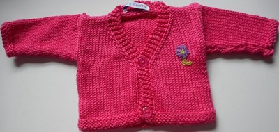 Cardigan - cerise pink, in 2 sizes