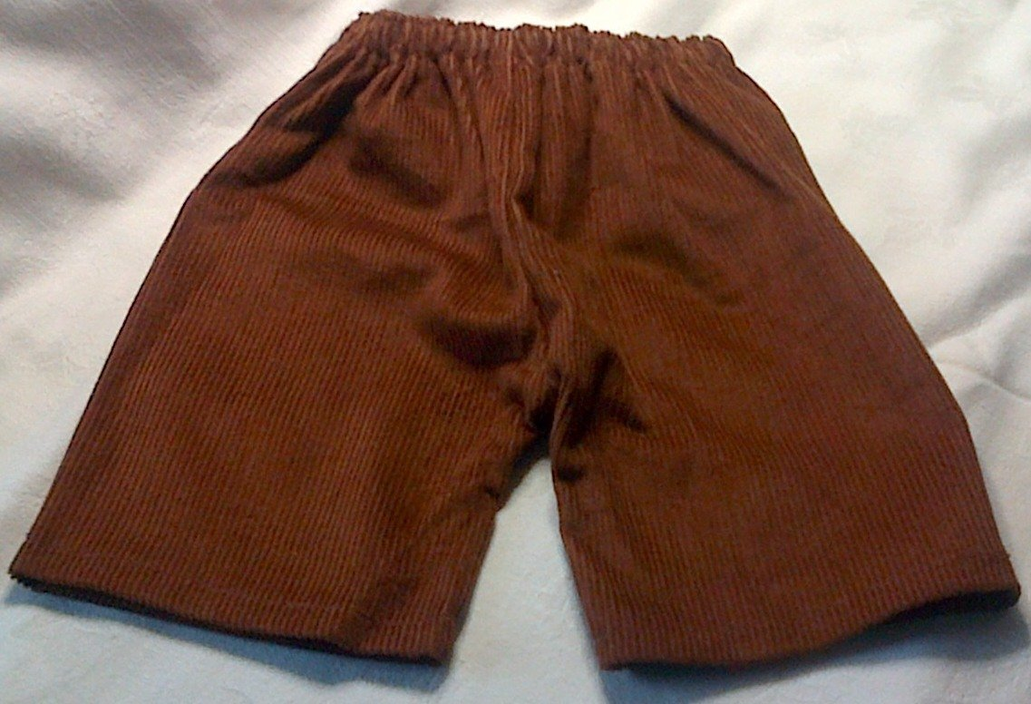 Trousers with back pockets - tan
