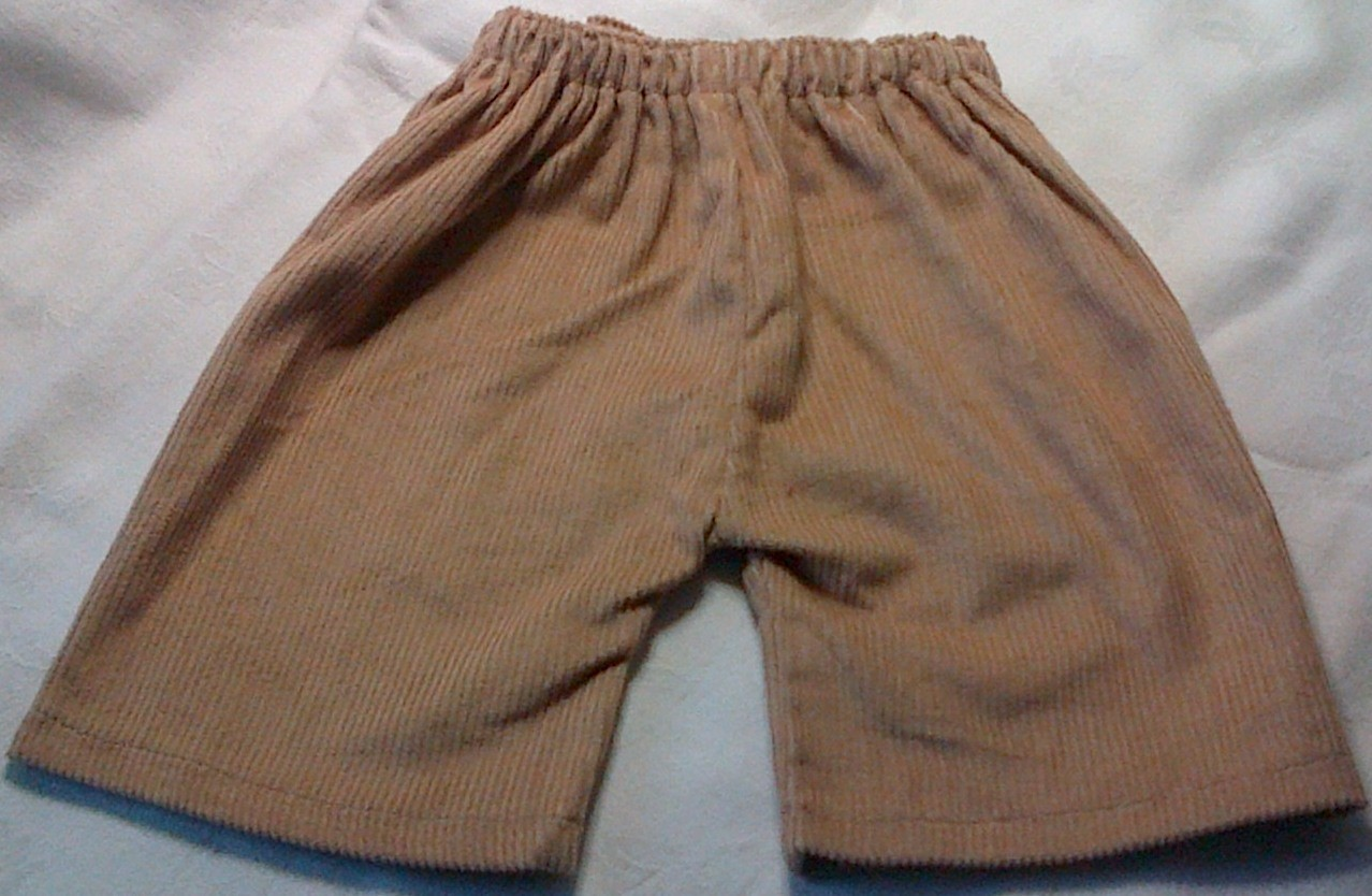 Trousers with back pockets - fawn